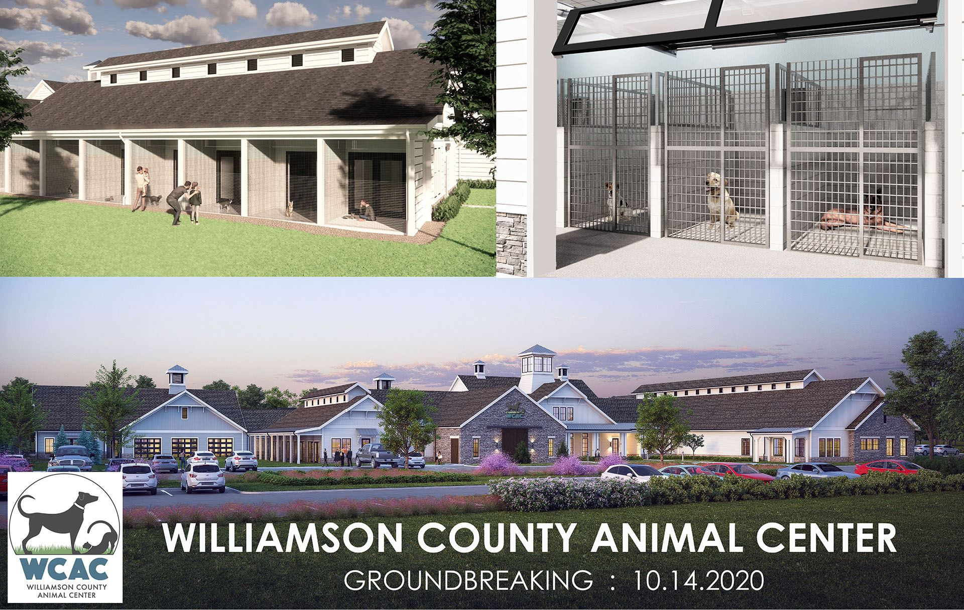 A rendering of the new Williamson County Animal Center to open in the fall of 2021.
